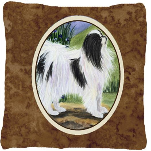 Japanese Chin Decorative   Canvas Fabric Pillow by Caroline's Treasures