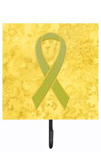 Buy this Yellow Ribbon for Sarcoma, Bone or Bladder Cancer Awareness Leash or Key Holder AN1203SH4