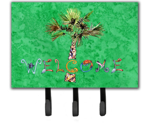 Buy this Welcome Palm Tree on Green Leash or Key Holder 8710TH68