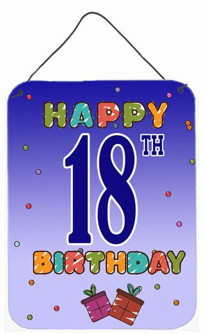 Buy this Happy 18th Birthday Wall or Door Hanging Prints CJ1109DS1216