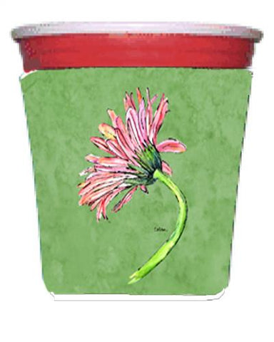 Buy this Gerber Daisy Pink Red Solo Cup Beverage Insulator Hugger