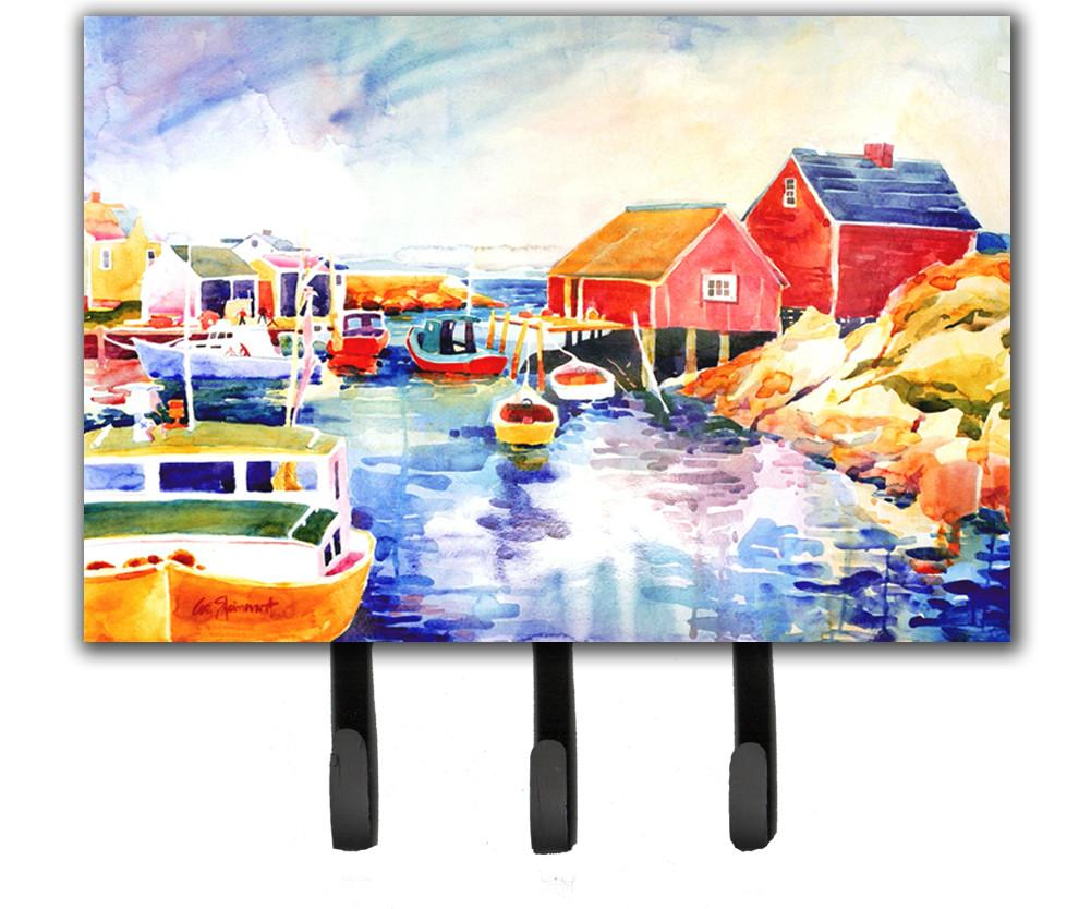 Boats at Harbour with a view Leash Holder or Key Hook by Caroline's Treasures