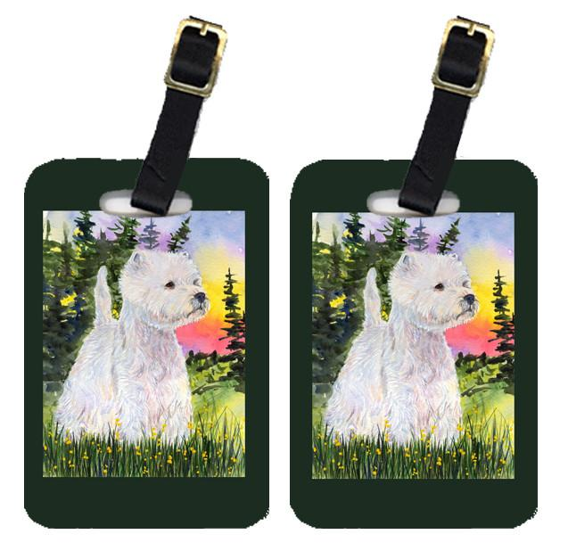 Buy this Pair of 2 Westie Luggage Tags