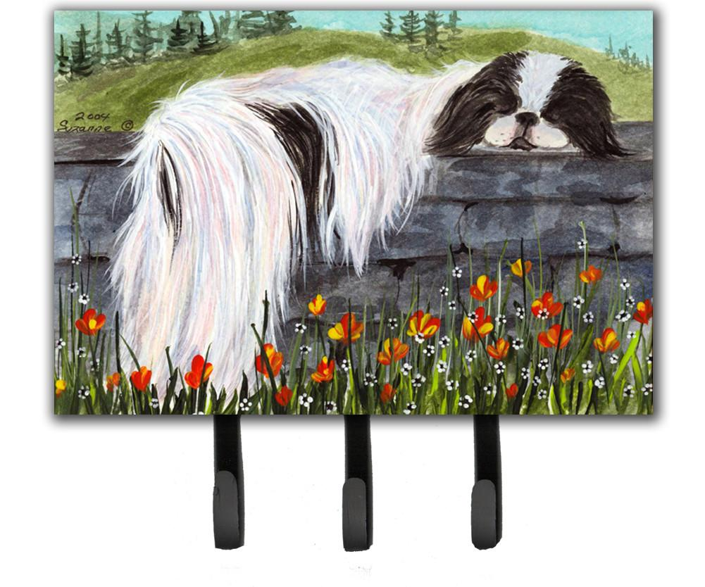 Japanese Chin Leash Holder or Key Hook by Caroline's Treasures