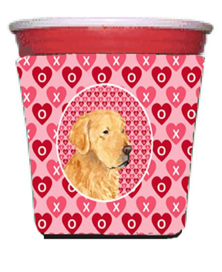 Golden Retriever  Red Solo Cup Beverage Insulator Hugger by Caroline's Treasures