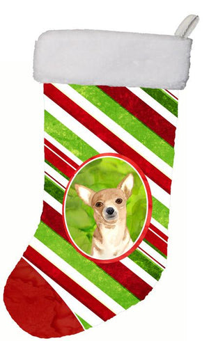 Buy this Candy Stripe Chihuahua Christmas Christmas Stocking RDR3010