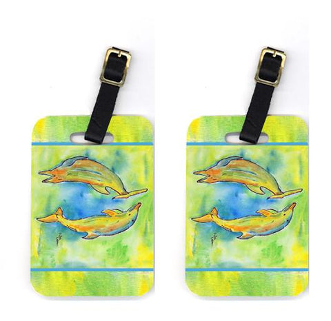 Buy this Pair of Dolphin Luggage Tags