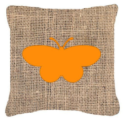 Buy this Butterfly Burlap and Orange   Canvas Fabric Decorative Pillow BB1051