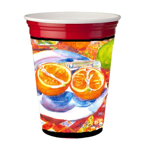 Buy this Florida Oranges Sliced for breakfast  Red Solo Cup Beverage Insulator Hugger