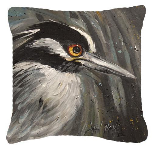 Night Heron Canvas Fabric Decorative Pillow JMK1219PW1414 by Caroline's Treasures
