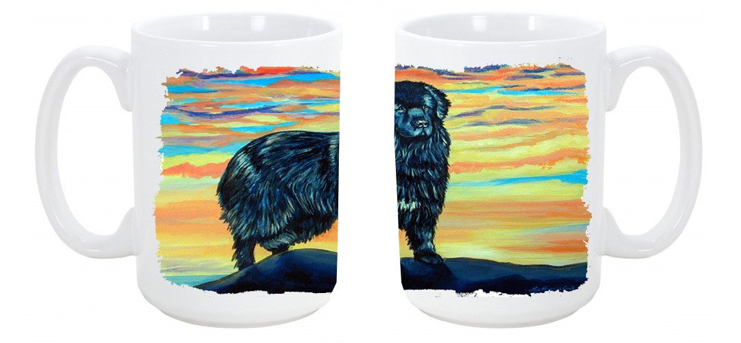 Newfoundland Dishwasher Safe Microwavable Ceramic Coffee Mug 15 ounce 7518CM15 by Caroline's Treasures