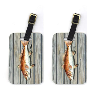 Buy this Pair of Red Fish Luggage Tags