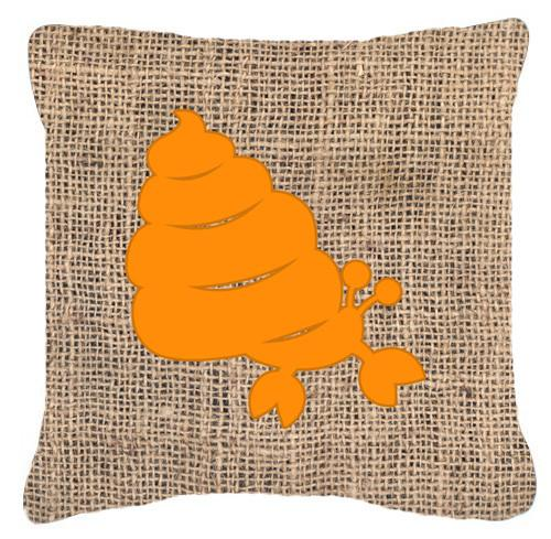 Buy this Hermit Crab Burlap and Orange   Canvas Fabric Decorative Pillow BB1092
