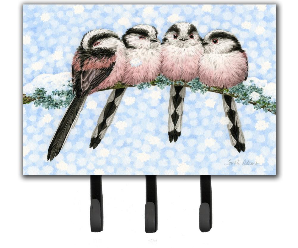 Roosting Long Tailed Tits Leash or Key Holder ASA2169TH68 by Caroline's Treasures