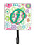 Buy this Letter J Flowers Pink Teal Green Initial Leash or Key Holder CJ2011-JSH4