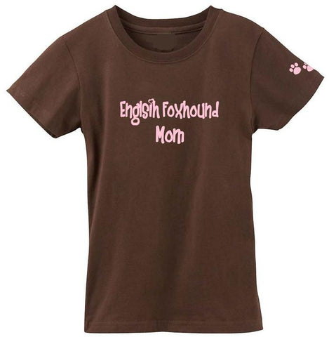 Buy this English Foxhound Mom Tshirt Ladies Cut Short Sleeve Adult Small