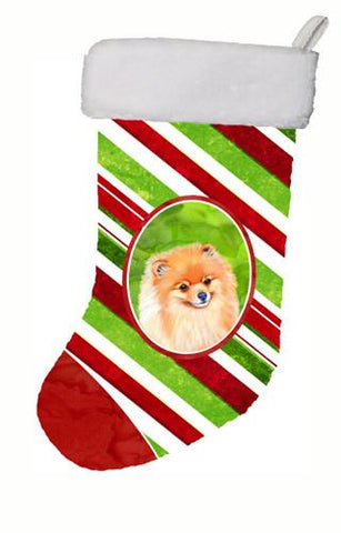 Buy this Pomeranian Candy Cane Holiday Christmas Christmas Stocking LH9260