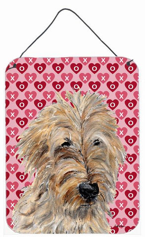 Buy this Golden Doodle 2 Hearts and Love Wall or Door Hanging Prints SC9715DS1216