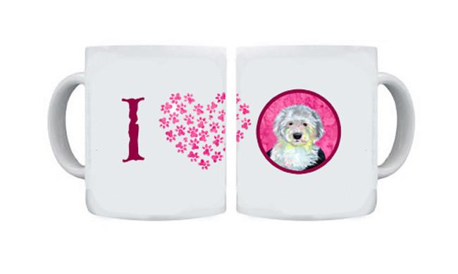 Old English Sheepdog  Dishwasher Safe Microwavable Ceramic Coffee Mug 15 ounce by Caroline's Treasures