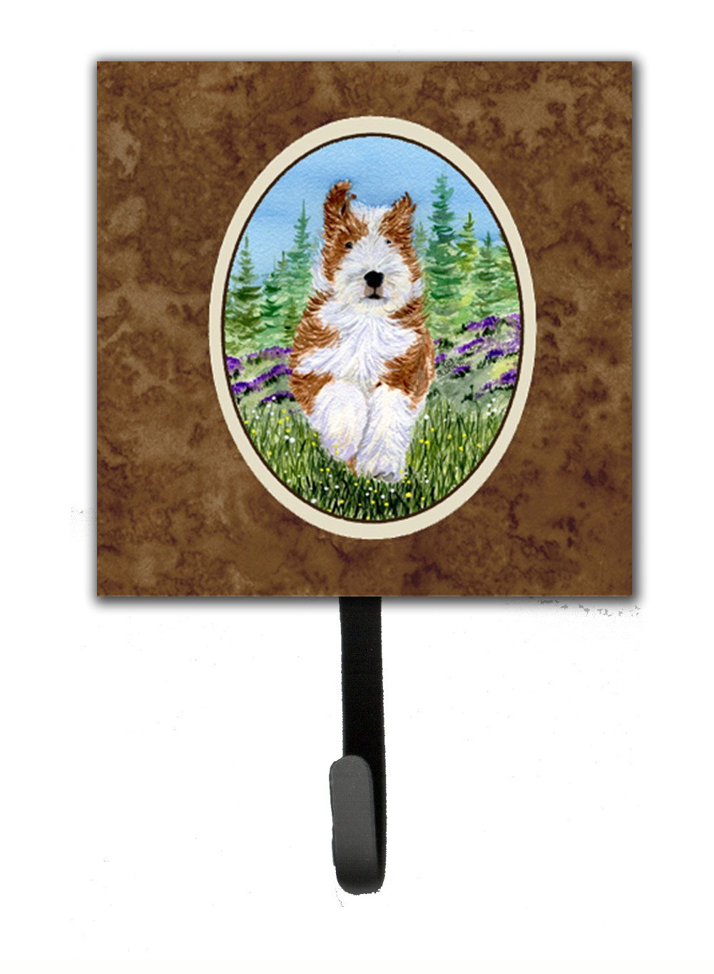 Bearded Collie Leash Holder or Key Hook by Caroline's Treasures