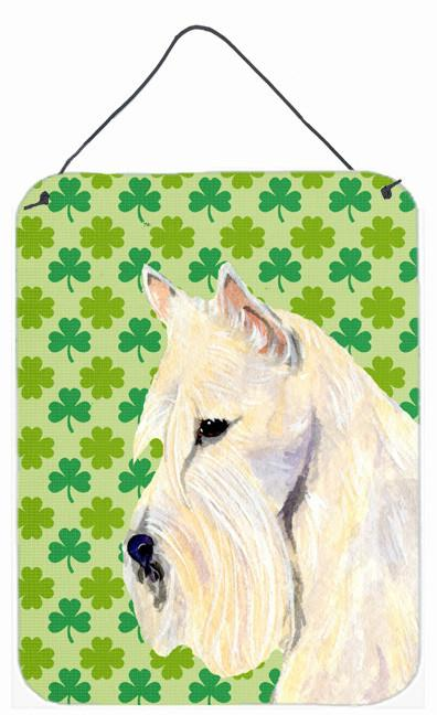 Scottish Terrier St. Patrick's Day Shamrock Wall or Door Hanging Prints by Caroline's Treasures