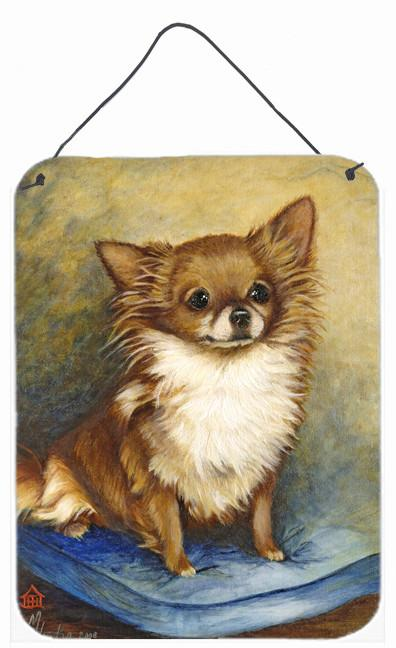 Chihuahua Long Hair Brown Wall or Door Hanging Prints MH1036DS1216 by Caroline's Treasures