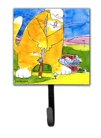 Buy this Big Cat golfing with a fishing pole  Leash Holder or Key Hook