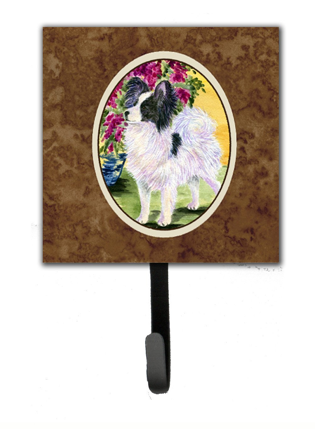 Papillon Leash Holder or Key Hook by Caroline's Treasures