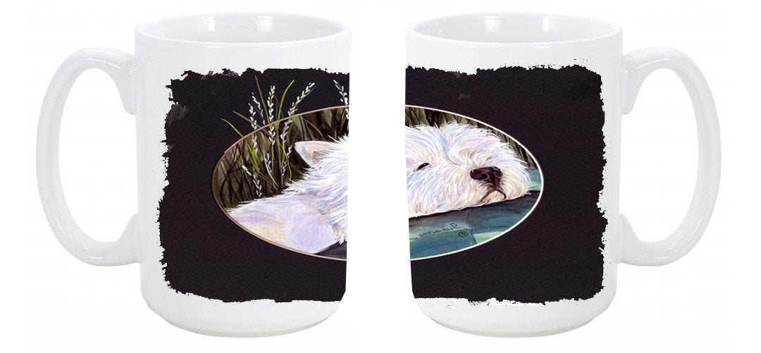 Westie Dishwasher Safe Microwavable Ceramic Coffee Mug 15 ounce SS8052CM15 by Caroline's Treasures
