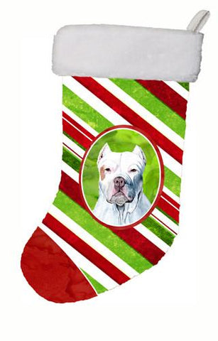 Buy this Pit Bull Candy Cane Holiday Christmas  Christmas Stocking SC9341