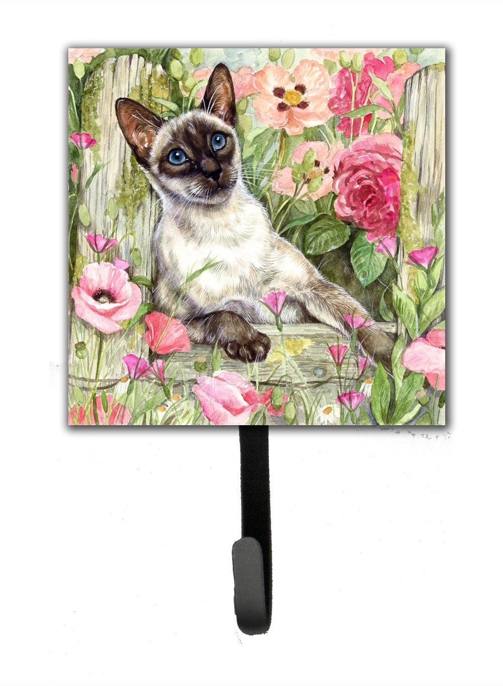 Siamese cat in the Roses Leash or Key Holder CDCO0033SH4 by Caroline's Treasures