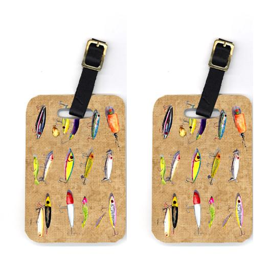 Pair of Fishing Lures Luggage Tags by Caroline's Treasures
