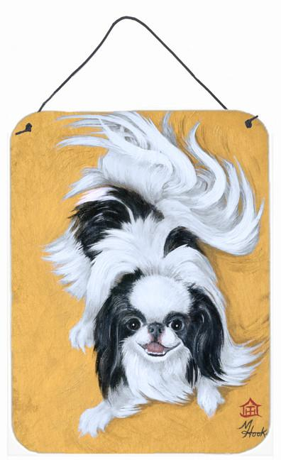 Japanese Chin Black White Play Wall or Door Hanging Prints MH1034DS1216 by Caroline's Treasures