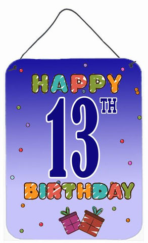 Buy this Happy 13th Birthday Wall or Door Hanging Prints CJ1104DS1216
