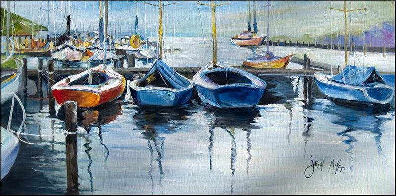 Buy this Sailboats waiting at the dock Indoor or Outdoor Runner Mat 28x58 JMK1311HRM2858