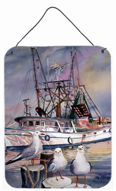 Sea Gulls and shrimp boats Wall or Door Hanging Prints JMK1196DS1216 by Caroline's Treasures