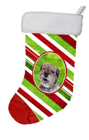 Buy this Border Terrier Candy Cane Christmas Christmas Stocking SC9613-CS