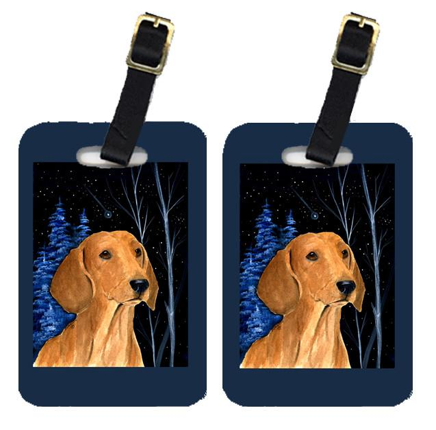 Buy this Starry Night Dachshund Luggage Tags Pair of 2
