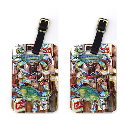 Buy this Pair of Blue Crabby New Orleans Beer Bottles Luggage Tags