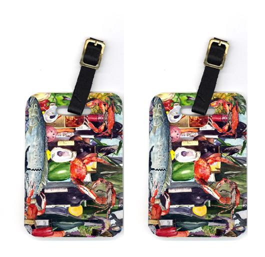 Buy this Pair of Wine and Speckled Trout Luggage Tags