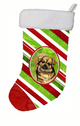 Buy this Tibetan Spaniel Candy Cane Holiday Christmas Christmas Stocking LH9259