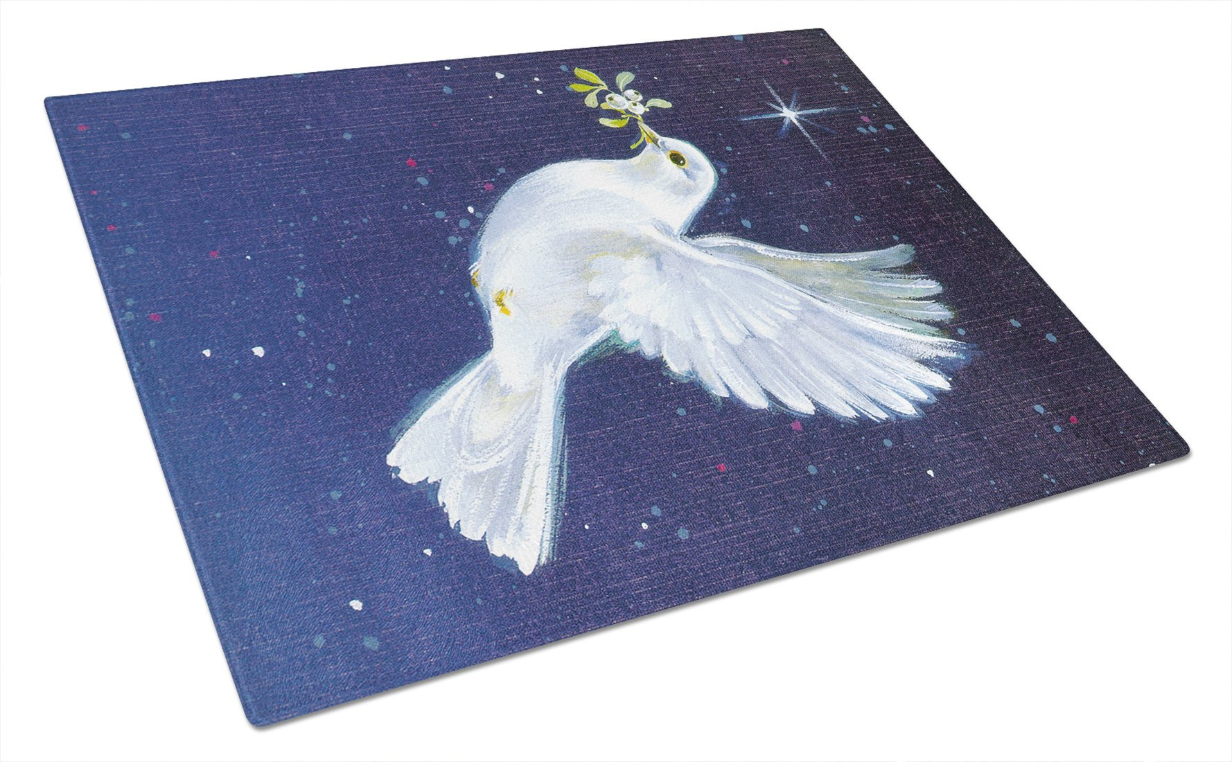 Peace Dove with the Olive Branch Glass Cutting Board Large AAH1624LCB by Caroline's Treasures