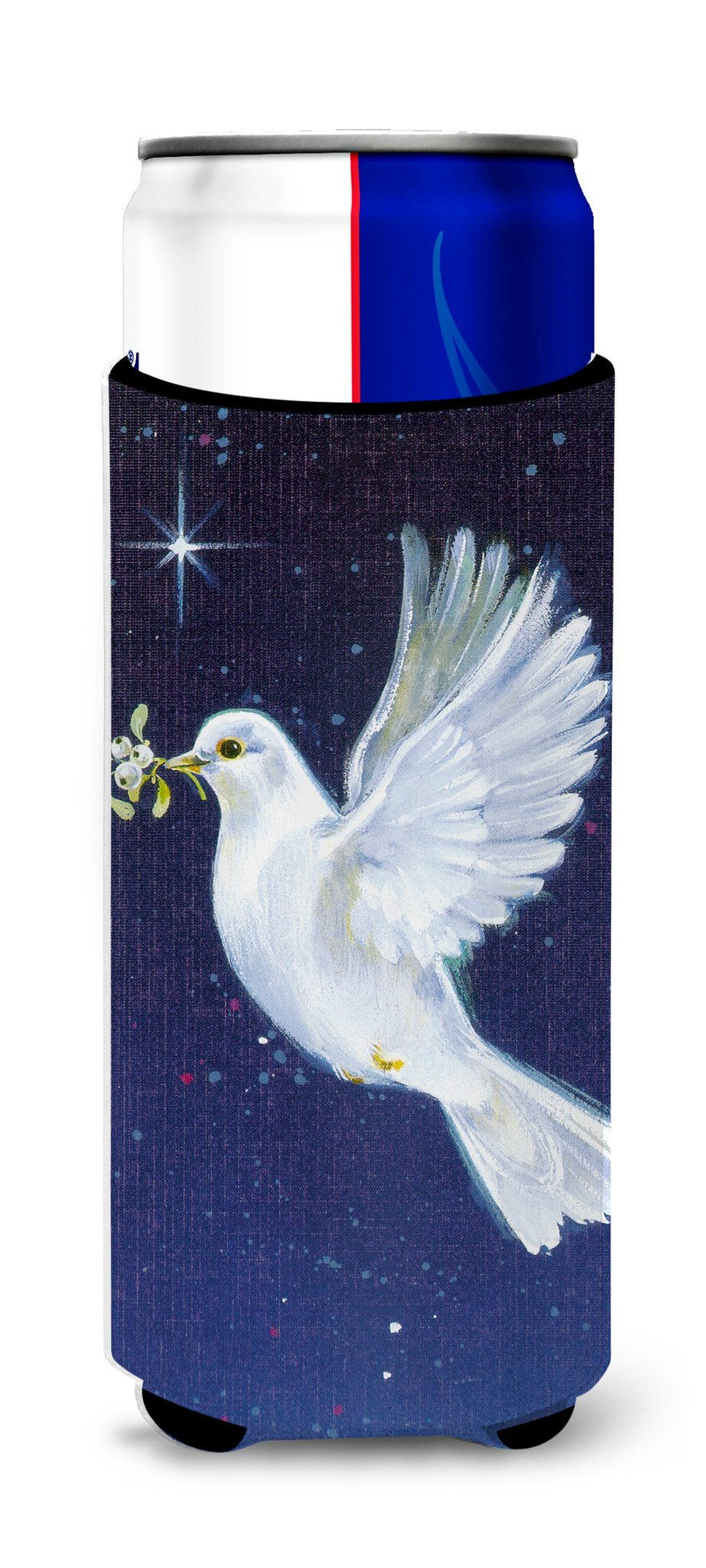 Peace Dove with the Olive Branch Ultra Beverage Insulators for slim cans AAH1624MUK by Caroline's Treasures