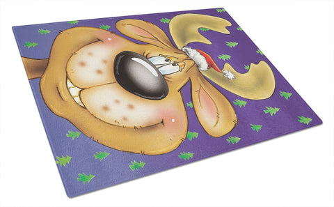 Buy this Comic Reindeer Glass Cutting Board Large AAH7198LCB