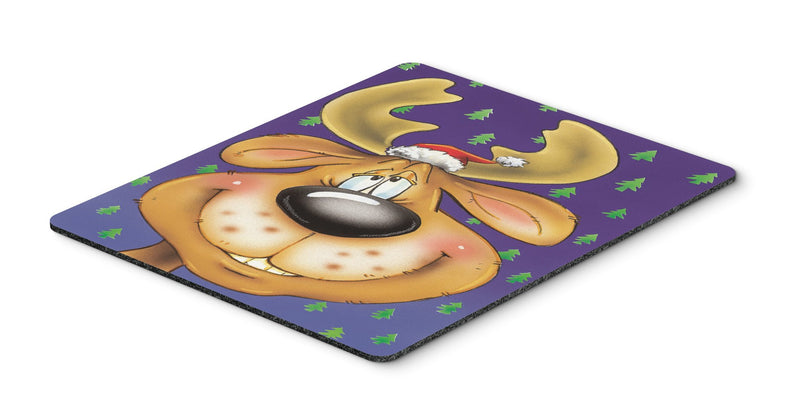 Comic Reindeer Mouse Pad, Hot Pad or Trivet AAH7198MP - the-store.com