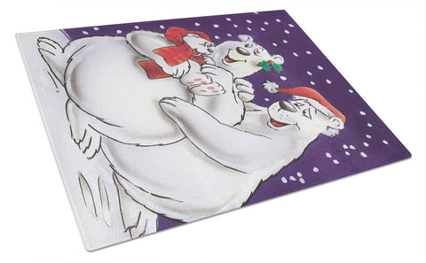 Buy this Holiday Polar Bears Glass Cutting Board Large AAH7269LCB