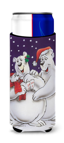 Buy this Holiday Polar Bears Ultra Beverage Insulators for slim cans AAH7269MUK