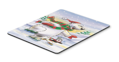 Buy this Holiday Polar Bears Ice Skating Mouse Pad, Hot Pad or Trivet AAH7270MP