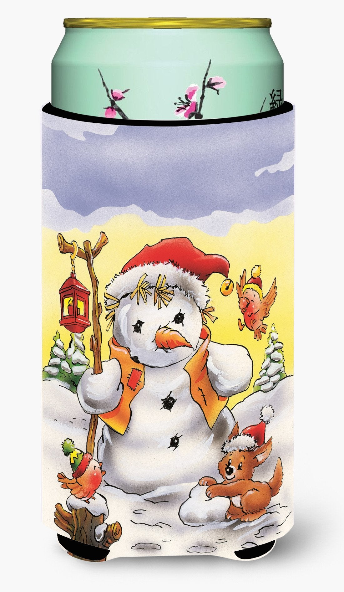 Scarecrow Snowman Tall Boy Beverage Insulator Hugger AAH7295TBC by Caroline's Treasures