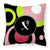 Buy this Letter X Monogram - Retro in Black Fabric Decorative Pillow AM1002-XPW1414